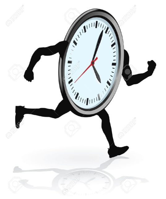 10652454-A-clock-character-running-Concept-for-running-out-of-time-or-work-life-balance--Stock-Vector